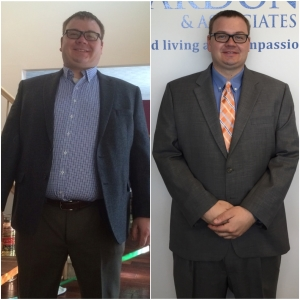 Prior to starting the program I had been working out over five times a week and I wasn't seeing any change in my physical appearance. However, the transformation began almost immediately for me, by losing ten pounds the first week! I assumed it would be tough, but I wasn't sure what the ultimate outcome would be. At this point I couldn't be happier. Not only have I seen a decrease in my body weight, but I also feel more energized in general and continue to receive numerous comments from co-workers, friends and just people I see around my building about how different I look.